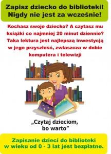 Plakat - Zapisz dziecko